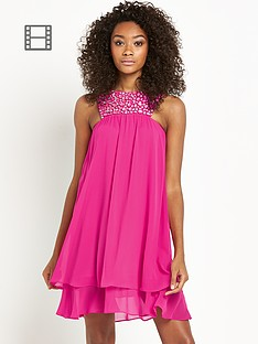 definitions-embellished-yoke-chiffon-dress