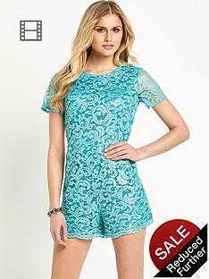 definitions-metallic-lace-playsuit