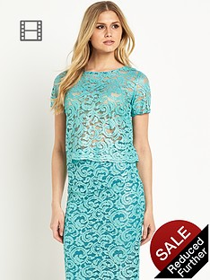 definitions-turqouise-lace-top