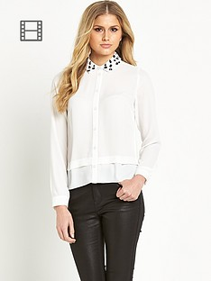 definitions-long-sleeved-embellished-dip-back-blouse