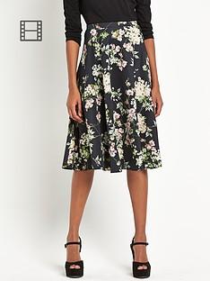 definitions-full-floral-midi-skirt
