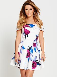 samantha-faiers-bardot-printed-prom-dress