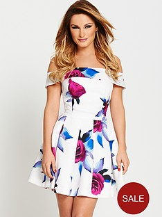 samantha-faiers-bardot-printed-prom-dress