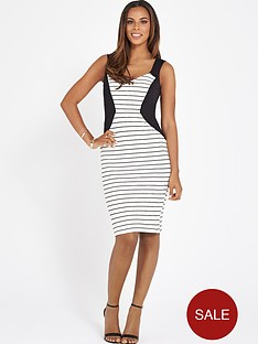 rochelle-humes-striped-bodycon-dress