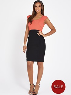 rochelle-humes-colour-block-bodycon-dress