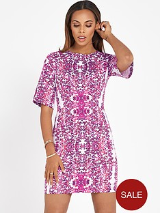 rochelle-humes-floral-shift-dress-with-wide-sleeves