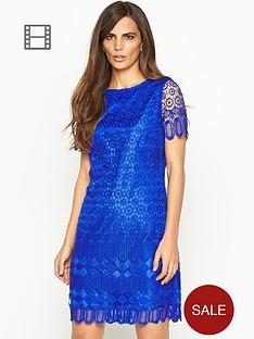 savoir-crochet-lace-shift-dress