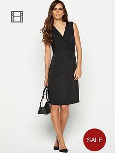 savoir-sleeveless-crossover-dress