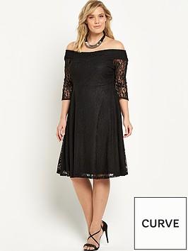 v-by-very-curve-lace-bardot-skater-dress