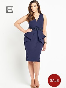 forever-unique-curve-paulina-peplum-dress