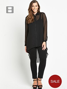 lovedrobe-pleat-back-shirt-black
