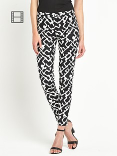 french-connection-downtown-grid-cotton-trousers