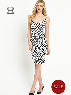 french-connection-downtown-grid-cotton-dress