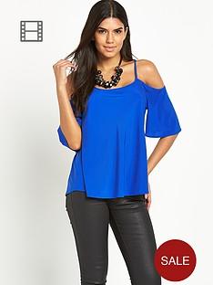 vero-moda-elif-cold-shoulder-top-cobalt