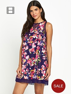 girls-on-film-contrast-floral-print-dress