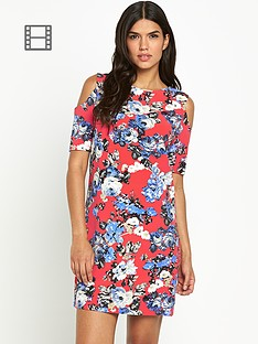 girls-on-film-cold-shoulder-printed-shift-dress