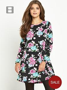 glamorous-printed-swing-dress