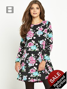 glamorous-printed-swing-dress