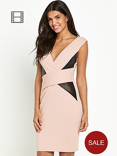 lipsy-michelle-keegan-v-neck-side-panel-dress