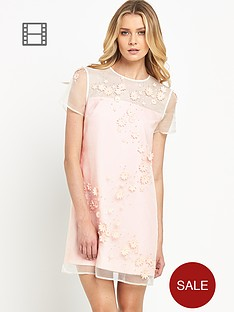 ted-baker-embellished-floral-mesh-dress