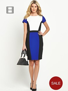 south-petite-colour-block-illusion-dress