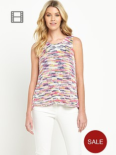 south-chiffon-back-knitted-multicoloured-vest