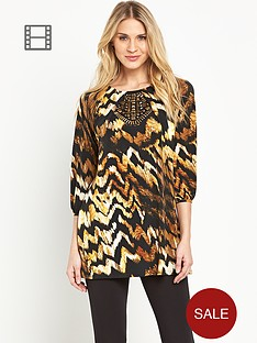 south-printed-embellished-yoke-tunic