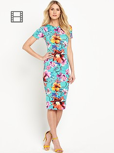 south-lilly-print-midi-dress