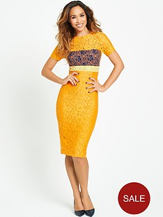 myleene-klass-colour-block-lace-dress