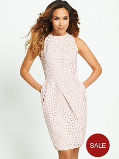 myleene-klass-spot-burn-out-tulip-skirt-dress