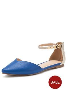 shoe-box-vivienne-two-part-flat-shoes-blue