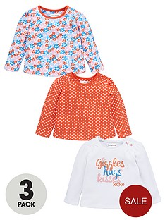 ladybird-baby-girls-giggles-and-hugs-t-shirts-3-pack