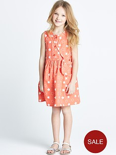 ladybird-girls-star-print-dress-with-bag