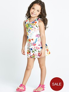 ladybird-girls-floral-print-scuba-playsuit