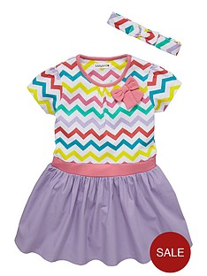 ladybird-girls-short-sleeve-chevron-dress
