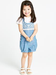 ladybird-girls-shorts-dungaree-and-t-shirt-2-piece-set
