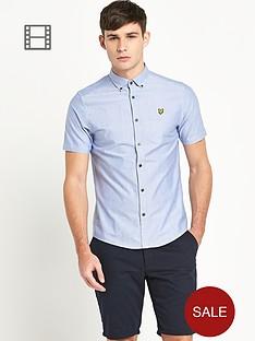 lyle-scott-mens-short-sleeve-oxford-shirt