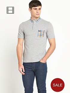 fred-perry-mens-gingham-trim-pique-polo-shirt