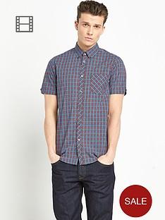 ben-sherman-mens-mini-check-short-sleeve-shirt