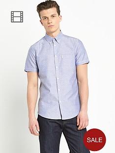 ben-sherman-mens-oxford-dot-print-short-sleeve-shirt