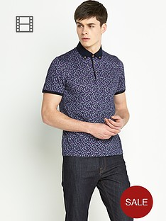 ted-baker-mens-all-over-floral-printed-polo-shirt