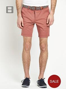 goodsouls-skinny-stretch-chino-shorts-with-belt