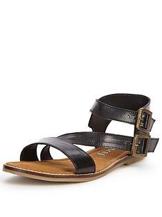 firetrap-lyla-leather-flat-sandals