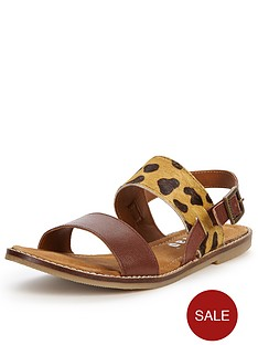 firetrap-isha-leather-leopard-flat-sandals