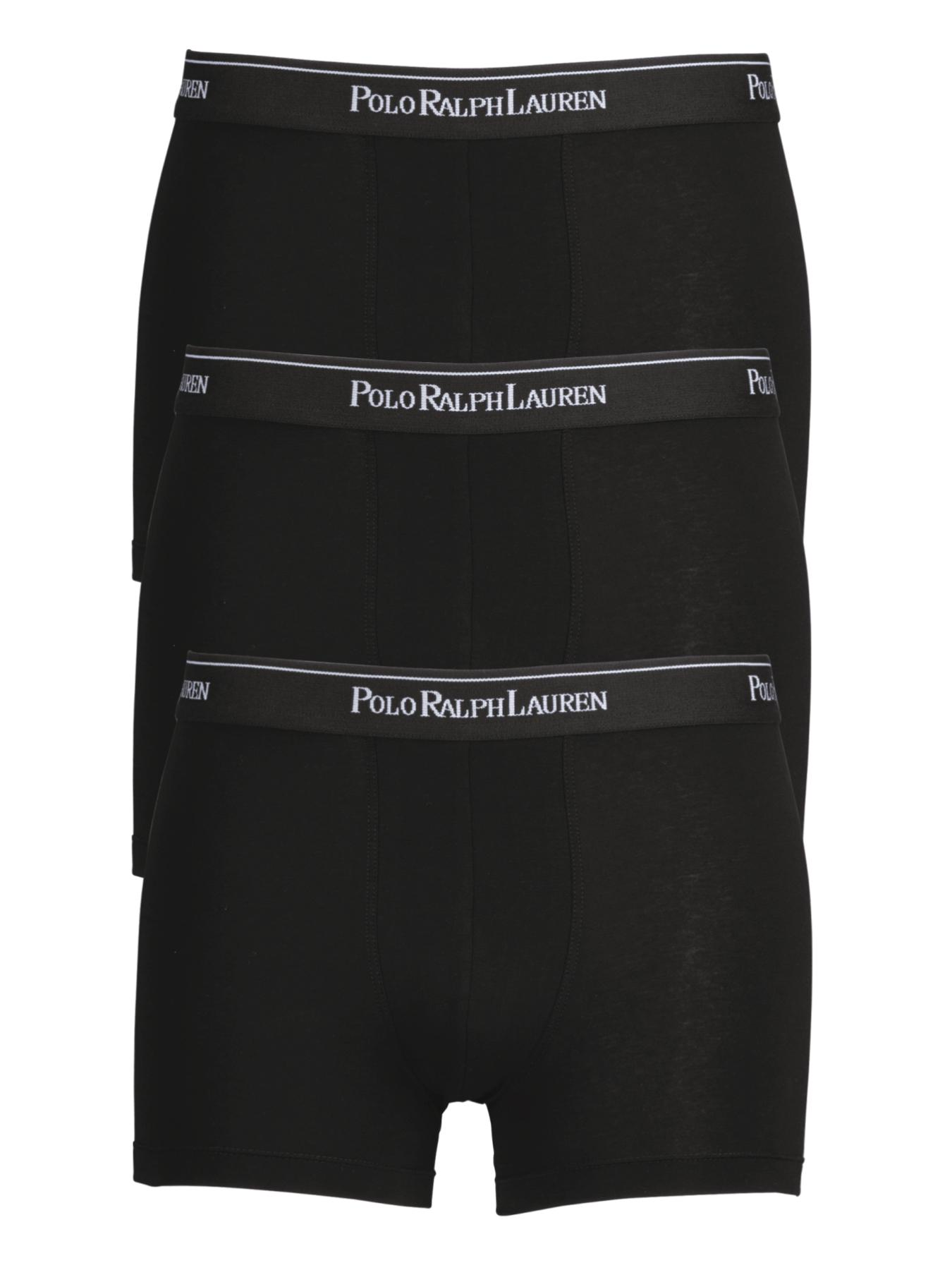 Polo Ralph Lauren Mens Core Trunks (3 Pack) - Black, Black