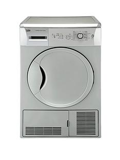 beko-dcu7230s-7kg-load-sensor-condenser-dryer-silver-next-day-delivery