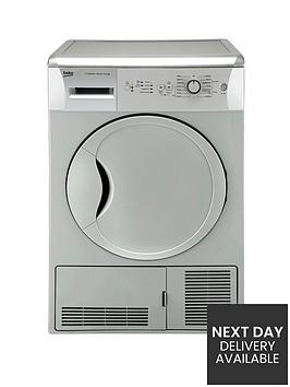 beko-dcu7230s-7kg-load-sensor-condenser-dryer-silver-next-day-delivery