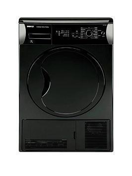 beko-dcu7230b-7kg-load-sensor-condenser-dryer-next-day-delivery-black