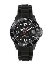 Black Silicone Strap Mens Watch