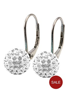 tresor-paris-8-mm-round-white-crystal-earrings